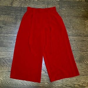 Breezy red culottes